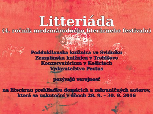 Litteriada (4th year of the international literary festival)